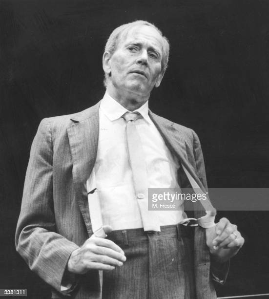 American actor Henry Fonda rehearsing at the Piccadilly Theatre in London for his one man play about the famous trial lawyer Clarence Darrow Darrow...