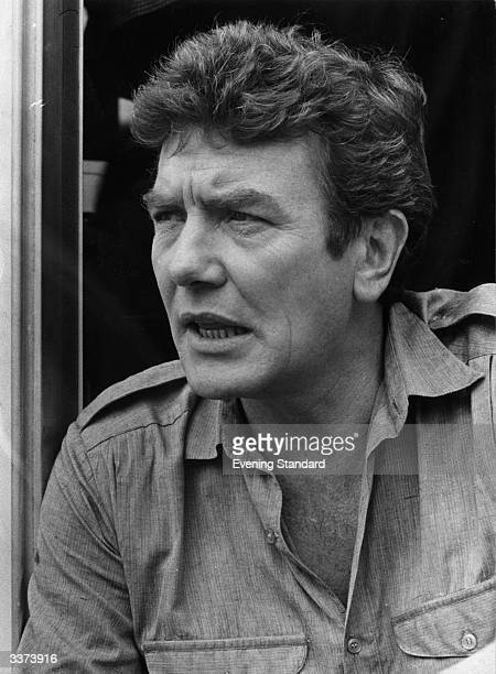British actor Albert Finney during the production of 'Loophole'