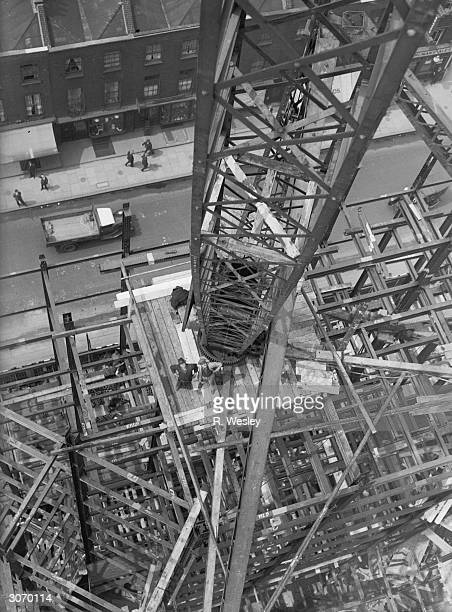 Construction of the new headquarters for the London Midland and Scottish Railway at Euston London