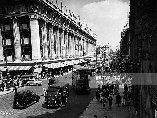 Selfridges, the famous London department store in Oxford Street.