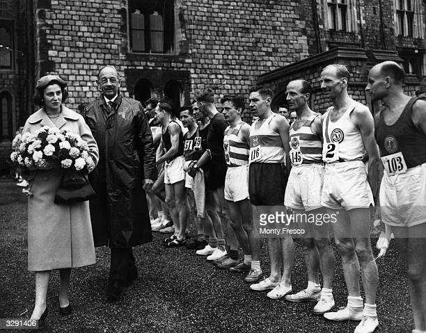 Princess Alexandra walking amongst the competitors of the Windsor to London marathon an annual event for the Polytechnic Harriers