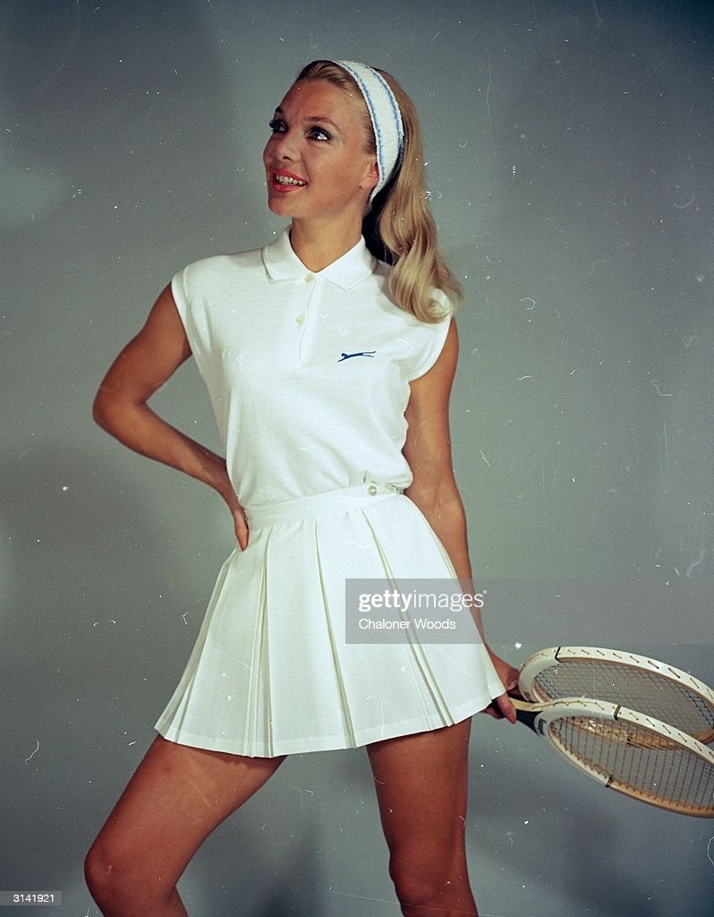 A Slazenger Tennis Outfit In White A Sleeveless Shirt Is Worn Over A News Photo Getty Images