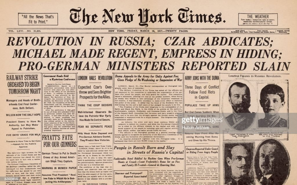 The Russian Revolution in Historic Newspapers – Europeana ...