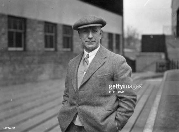 Wolverhampton Wanderers Football Club manager Frank Buckley at Molineux Park Wolverhampton