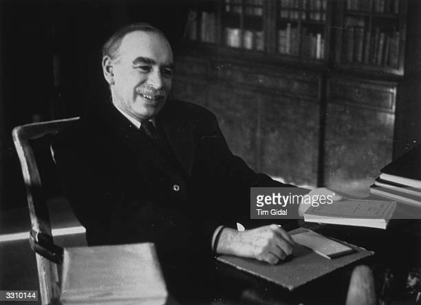 John Maynard Keynes, English economist and pioneer of the theory of full employment. Original Publication: Picture Post - 361 - Mr. Keynes Has A Plan...
