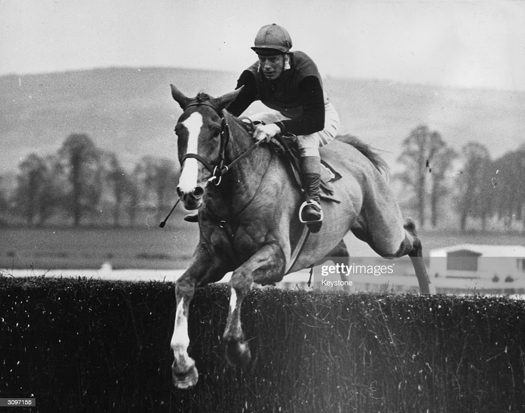 Ireland's champion jockey Pat Taaffe on the way to a 15 lengths win with racehorse 'Flyingbolt' in the National Hunt Two Mile Champion Chase at Cheltenham.