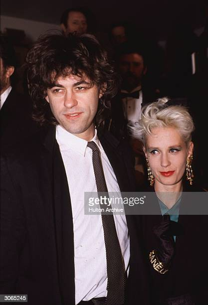 Bob Geldof exsinger with punk group the 'Boomtown Rats' and organiser of the Live Aid concerts with his wife Paula Yates journalist and television...