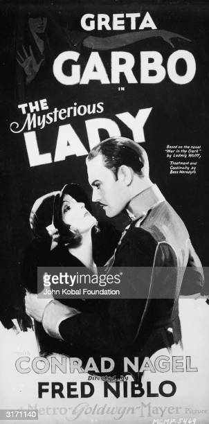 SwedishAmerican actress Greta Garbo as the glamorous Russian spy Tania in the romantic drama 'The Mysterious Lady' directed by Fred Niblo The poster...