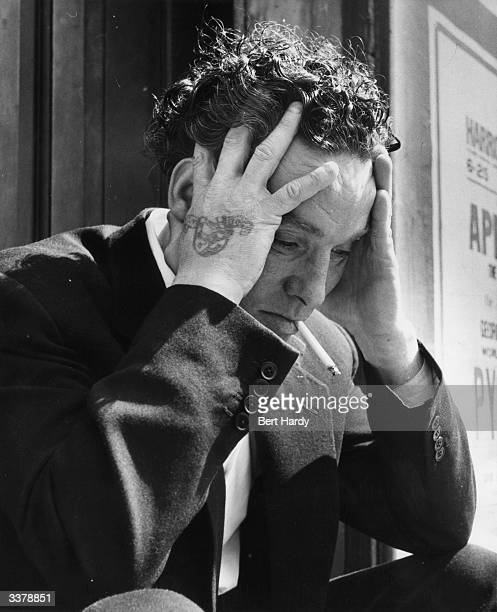 Former welterweight boxer Billy Gibbs, who was forced to retire with a weak heart, contemplating his new life working in the barrow business....