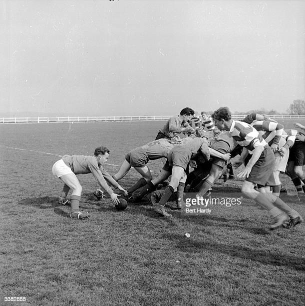 Rugby players from the Bexhill Hastings team playing their annual fixture with Dieppe Rugby Club Original Publication Picture Post 6508 When Husbands...