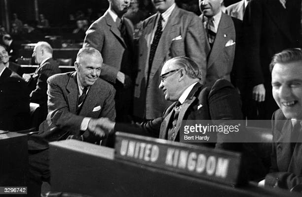 At the UNO conference at the Palais de Chaillot, Paris, the US secretary of state George Catlett Marshall, , and British foreign minister Ernest...