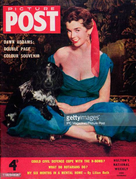 English actress Dawn Addams is featured for the cover of Picture Post magazine Original Publication Picture Post Cover Vol 64 No 16 pub 1954
