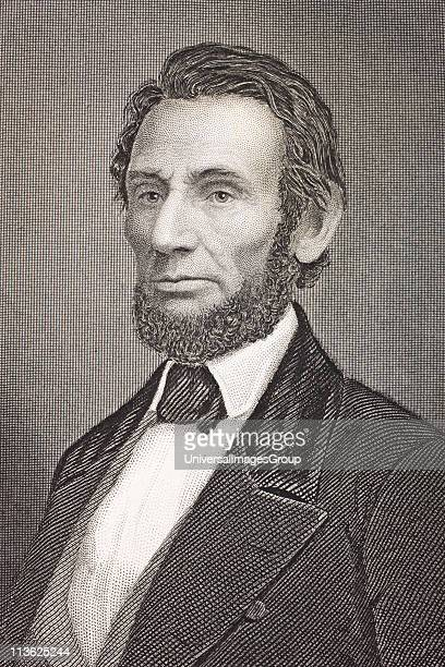 16th President of the United States From the book Gallery of Historical Portraits published c1880