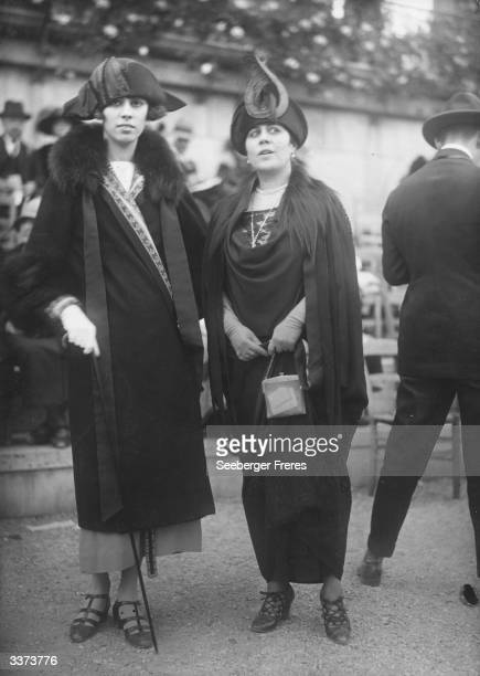 Fur collared coats by Lanvin and Poiret with hats designed by Lewis