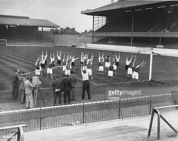The BBC televises football for the first time A mobile television unit visited Arsenal for a demonstration by the first team and reserves George...