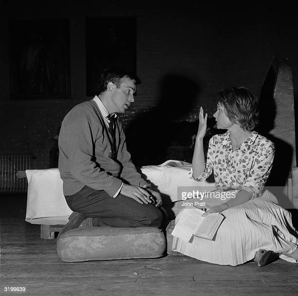 The then relatively unknown Judi Dench with John Stride in rehearsal for a production of 'Romeo And Juliet' produced by Franco Zeffirelli at the Old...