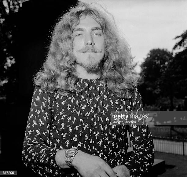Lead singer of rock band Led Zeppelin Robert Plant after receiving his Melody Maker Award for Best British Male Singer