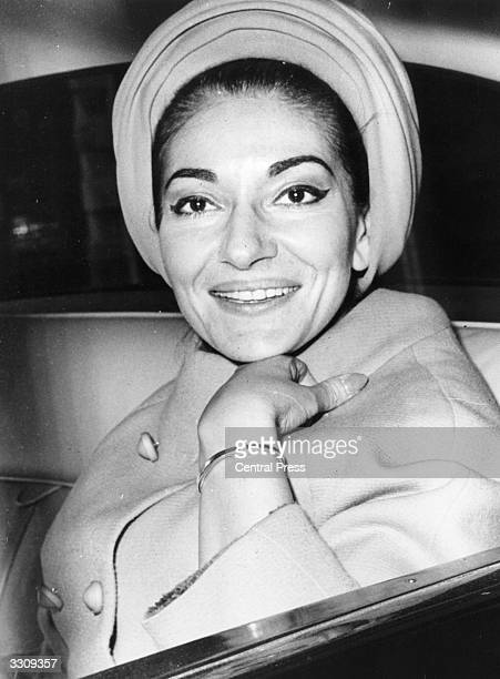 Opera soprano Maria Callas on a visit to London