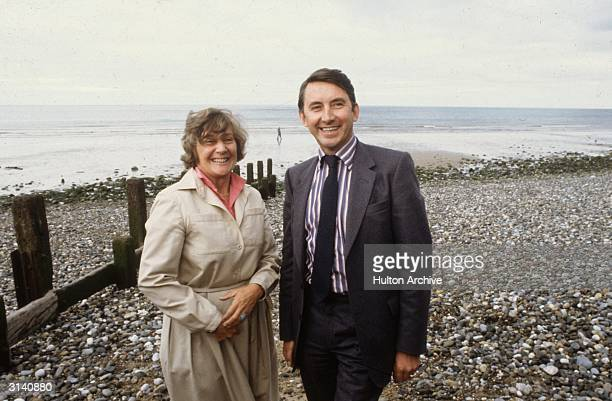 Social Democratic politicians Shirley Williams and David Steel in Harrogate for the Liberal Party Conference