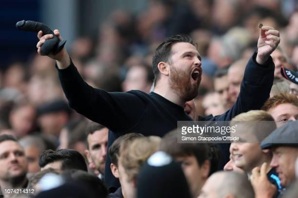 16th September 2017 Premier League West Bromwich Albion v West Ham United A West Ham fan waves a black dildo
