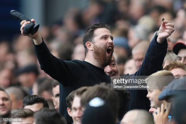 16th September 2017 Premier League West Bromwich Albion v West Ham United West Ham fans wave a black dildo
