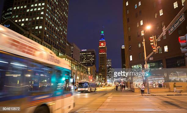16 th Street und dem Larimer in Denver, Colorado, bei Nacht