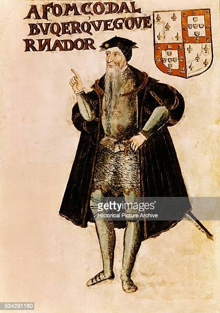 16thCentury Portuguese Print of Afonso de Albuquerque