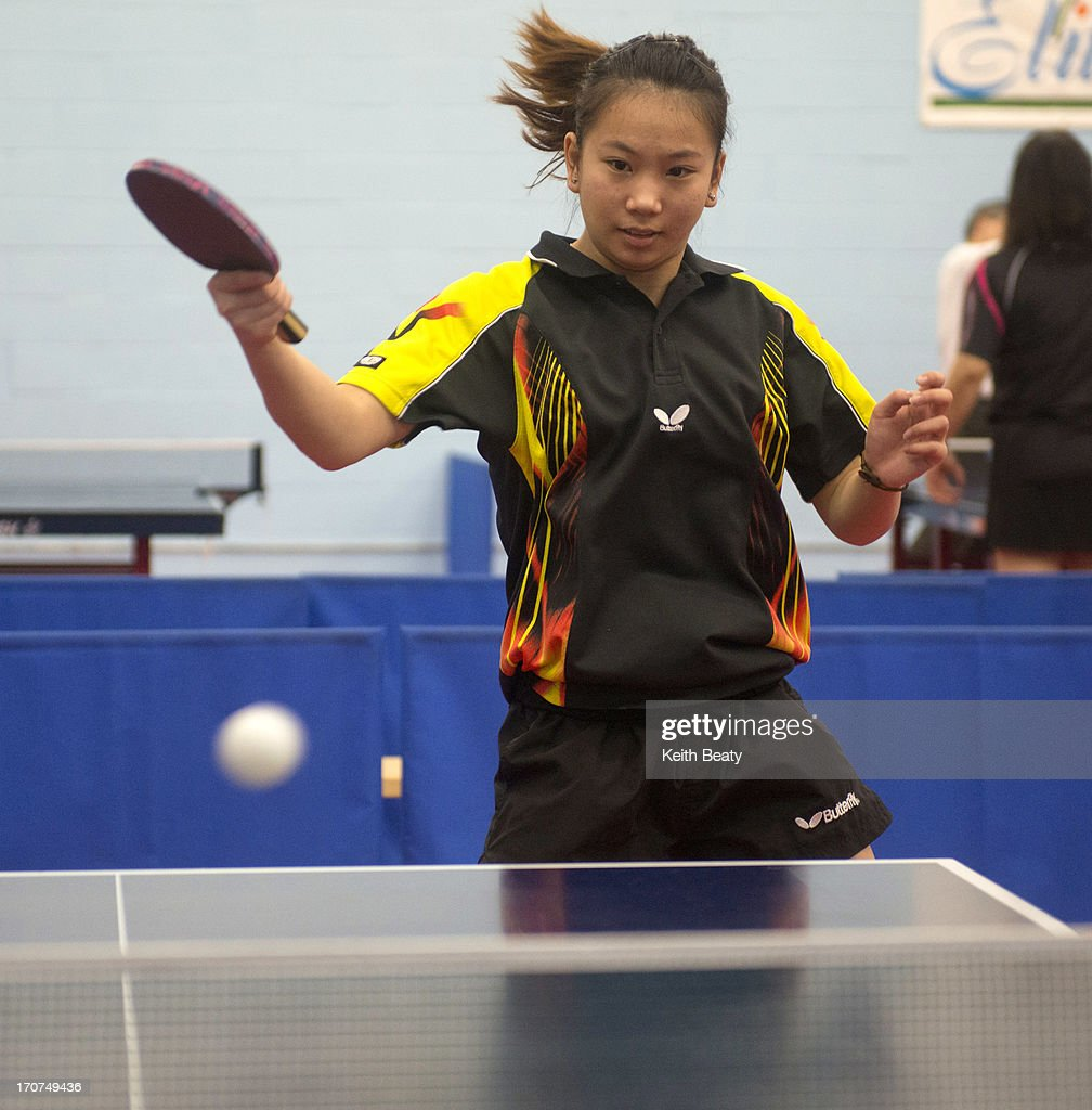 Table Tennis Player Anqi Luo : News Photo