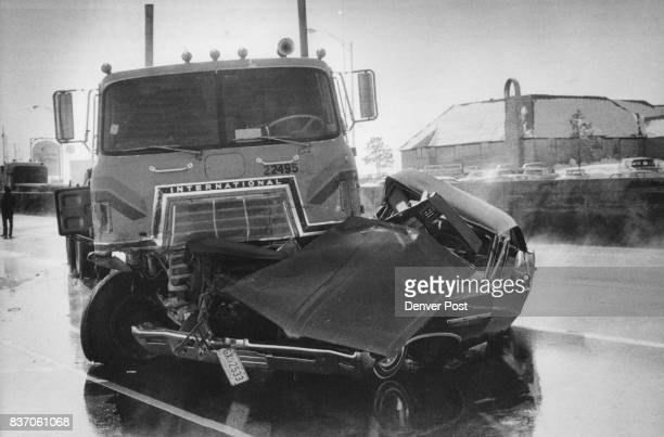 A 16yearold Denver youth driving this car was injured Lujan stopped so the tow chain could be reconnected in a fivevehicle pileup on northbound...