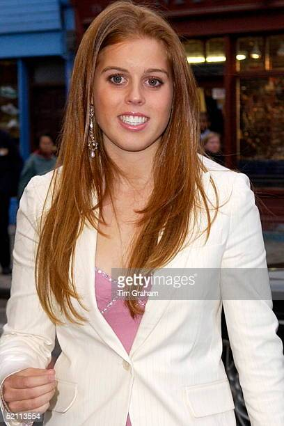 16yearold Princess Beatrice At The Electric Cinema For The Premiere Of The New Disney Film 'the Princess Diaries 2 Royal Engagement' The Premiere Is...
