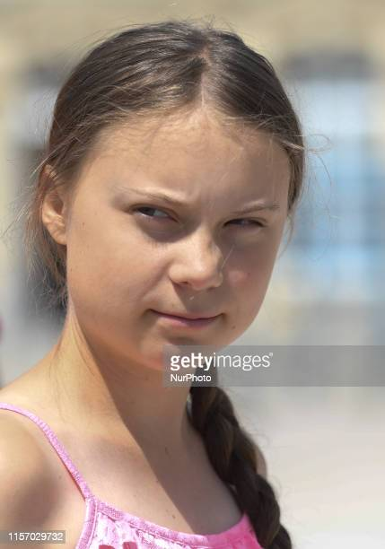 A 16yearold Swedish climate activist Greta Thunberg during the 2019 Freedom Award Ceremony in AbbayeauxDames Caen On Sunday July 21 in Caen Normandy...