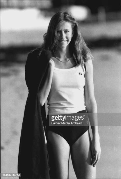 16yearsold longjumper Rhonda Cansdell Pifured on Collaroy beach today Rhonda boy friend is Darren Clark Australia's newest Olympic gold medal hope...