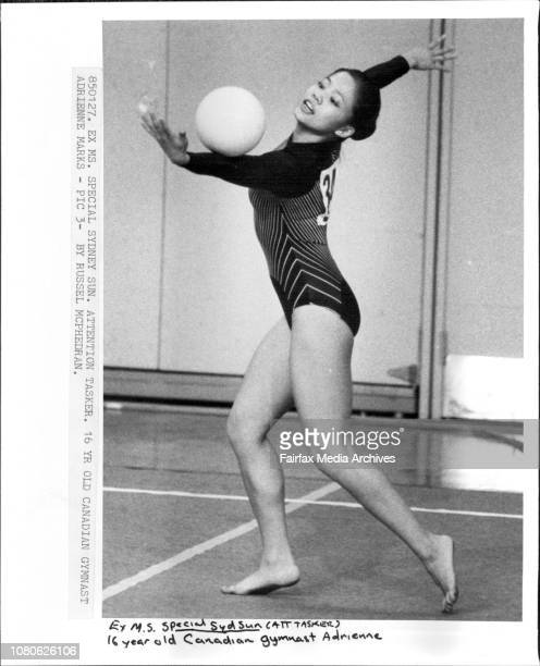 16yr old Canadian Gymnast Adrienne Marks Adrienne Marks January 27 1985