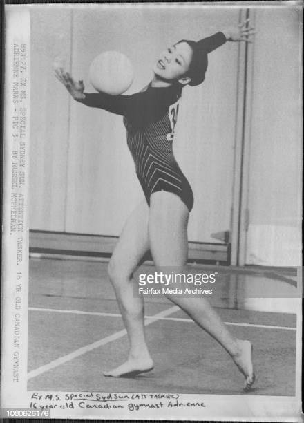 16yr old Canadian Gymnast Adrienne Marks January 27 1985