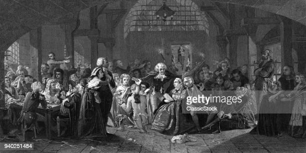 1700s 1790s ENGRAVING OLD...
