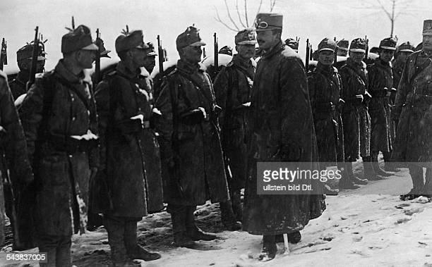 At his Tirol Emperor Regiment of Riflemen - um 1915- Photographer: Rudolf BaloghVintage property of ullstein bild