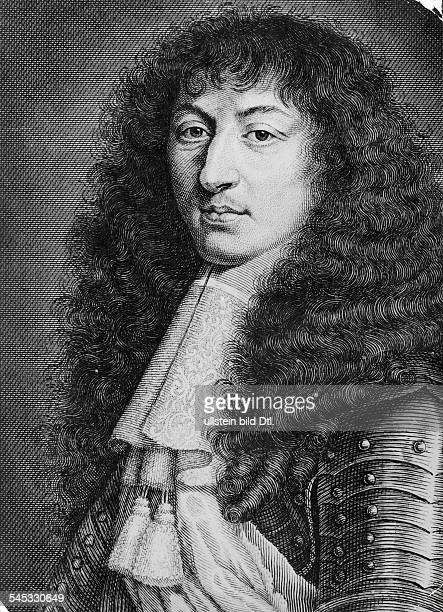 1715König F 1643 - 1715Stich nach einem Gemälde von Mignard