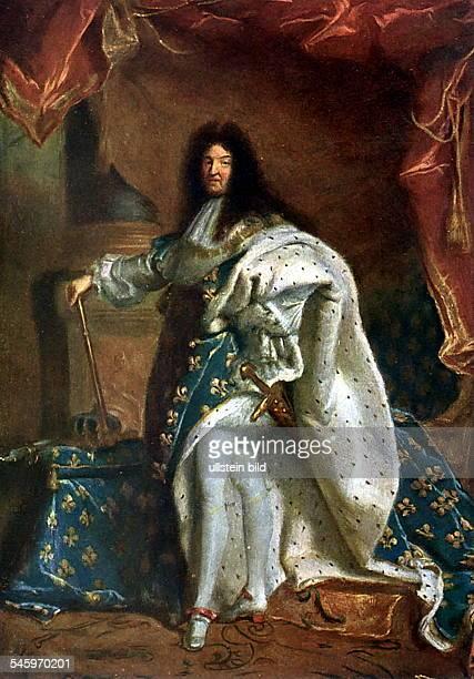 1638 1715König von Frankreich 1643 1715nd Gemälde von Hayacinthe RigaudParis Louvre