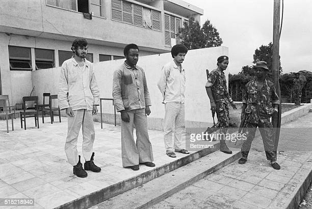 1/7/1976Silva Porto Angola Soldiers of the National Union for the Total Independence of Angola keep a watchful eye as they exercise three captured...
