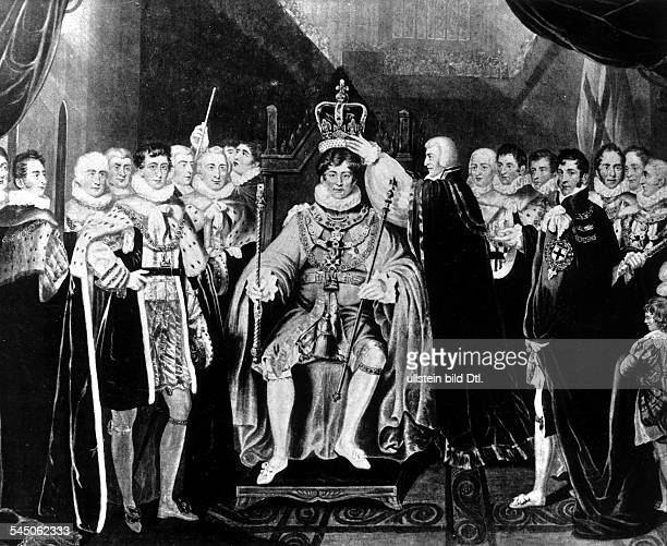 *17621830König von England 1820 1830 Krönung in der Westminster Abbey1820zeitg Gemälde