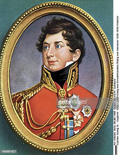 17621830König von Grossbritannien und Irlandzugl König von Hannover 18201830 ne Miniatur von Henry Bone