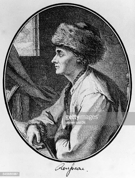 1712 1778Philosoph und Schriftsteller FAusschnitt aus dem Kupferstich vonJB Michel
