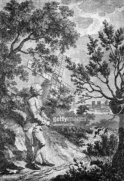 1712 1778Philosoph und Schriftsteller Fzeitg Stich von C Guerin