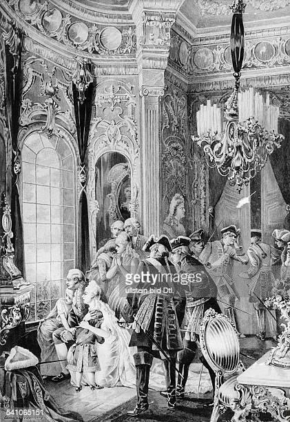 1754 1793König von Frankreichdie königliche Familie während derRevolutionsunruhen in Versaillesnach einer Zeichnung von E Brüning 1789