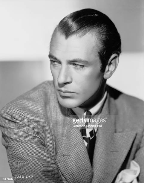 American actor and two time Academy Award winner Gary Cooper .