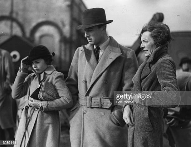 Lord Louis 1st Earl Mountbatten of Burma and Lady Edwina Mountbatten together with their daughter at Southampton