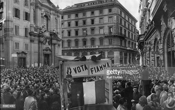 A rally on behalf of the NeoFascist Italian Social Movement prior to Italy's general election Original Publication Picture Post 4545 Italy Votes On...
