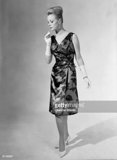 A sixties fashion model wearing a Brilkie Rosecroft dress