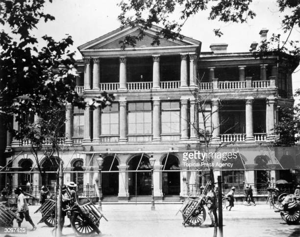 The Shanghai Club where British refugees gathered during the evacuation from Shanghai