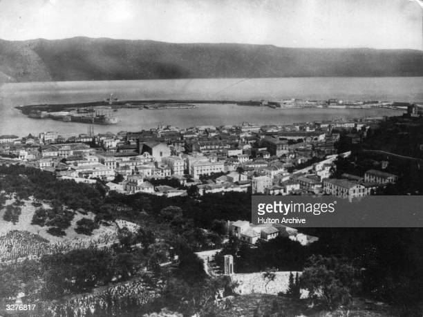 A general view of Messina in Sicily On 17 August all the Axis troops were evacuated from Sicily and the Americans entered Messina